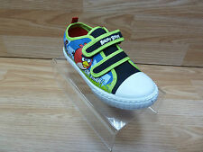 Boys Angry Birds Green Double Velcro Strap Fastening Character Print Trainers