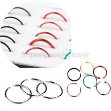 40pcs Stainless Steel Nose Studs Hoops Body Piercing Rings Jewelry