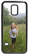 Personalised photo Samsung Galaxy S5 mini black hard case. Any image and text
