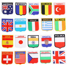 UK EURO 2016 DIY New Embroidered Iron On Patch National flag USA Italy Belgium