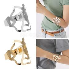Adjustable Chunky Bracelet Bangle Armlet Rose Hollow Cut Lace Lady Jewelry Gift