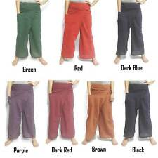 Thai Fisherman Wrap Pants Heavy Cotton Nice Wale Yoga Trousers Unisex Casual