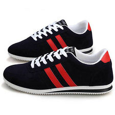 Solid Mens Sneakers Lace Up Causal Breathes Shoes Cloth Board Shoes Sport Shoes
