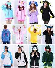 Anime Pokemon Unicorn Hoodie Hooded Sweatshirt Hoody Jacket Coat Cosplay Costume