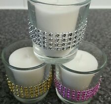 4 Elegant Clear Glass Tea Light Votive Candle Holders Wedding ,Party Gift,
