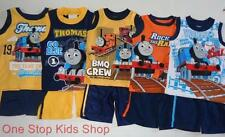 THOMAS THE TRAIN Toddler Boys 2T 3T 4T Set OUTFIT Shirt Tank Shorts Tank Engine