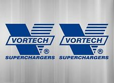 Set of Two Vortech Superchargers vinyl stickers decal muscle Mustang Camero NHRA