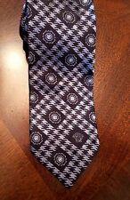 VERSACE Medusa Black Label Medallion Purple Black Silver Neck Tie