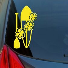 Hawaiian Hibiscus Stand Up Paddle Surf Boarding vinyl sticker decal Maui Waikiki