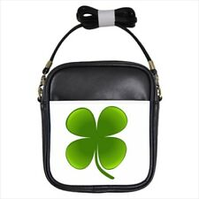 St Patricks Day Shamrock Leather Sling Bag & Women's Handbag