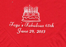 BIRTHDAY CAKE LOGO 50 Personalized printed LUNCHEON DINNER napkins