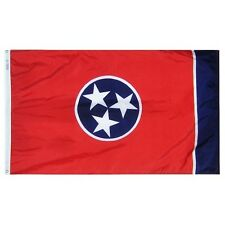 Tennessee State Indoor Outdoor Parade Dyed Flag All Larger Sizes