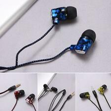 3.5mm In-Ear Earphone Headphone Earbud Headset Flat Cable For MP3 MP4 iPhone