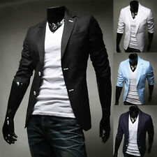 PJ Mens Stylish & Slim Fit Half Sleeve Two Buttons Blazer Coat Tops Formal Suits