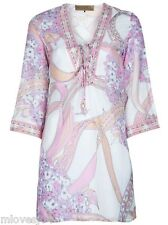 Emilio Pucci Cotton Silk Cover Up Beach Kaftan Bikini Dress BNWT UK 8 IT 40
