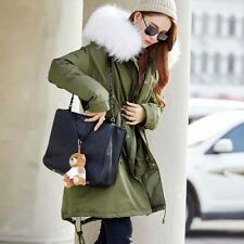 Womens Warm Winter Thicken Jackets Parka Faux Fur Collar Hooded Long Down Coats