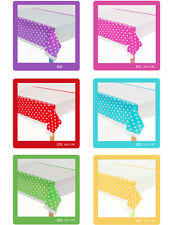 Disposable Plastic Polka Dots Tablecover Party One-time Rectangular Tablecloth