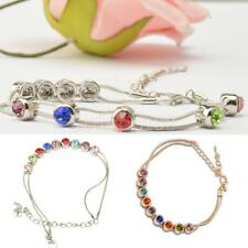 Fashion Charm Europe Multicolor Rhinestone Snake Chain Link Bracelet Jewelry