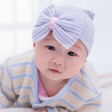 Cute Newborn Babys Infant Girl Toddler Comfy Bowknot Hospital Cap Beanie Hat