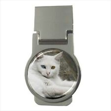 Turkish Angora Chrome Money Clip - Cat Kitten
