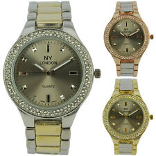 Party Wear Fashion Ladies Bling Crystal Bezel Gents NY London Unisex Watch New