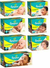 Pampers Swaddlers Diapers Super Pack ( Choose Your Size - Newborn 1 2 3 4 5 6 )