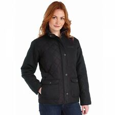 Regatta Ladies Missy II Quilted Countrystyle Coat Jacket - Black **RRP £50**
