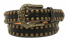 Nocona Western Womens Belt Leather Arrow Nailhead Brown N3410101