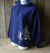 BARREL RACING HOODIE Hooded Sweatshirt NAVY BLUE Cowgirl Up Racer Rodeo Cowboy