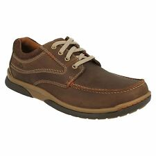 RANDLE WALK MENS CLARKS LACE UP ROUND TOE LEATHER CASUAL SHOES G FIT