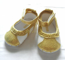 gold shinny princess bow girl shoes toddler shoes baby girl shoes UK size2,3,4