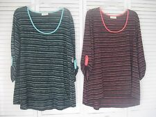 """WOMEN'S """"BOBBIE BROOKS"""" KNIT TOPS,CHOICE OF PINK (SIZE 2X) BLUE (SIZE SMALL)"""