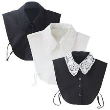 Vintage Women Fake Lace Shirt Blouse Accessories Peter Pan Detachable Collar Tie