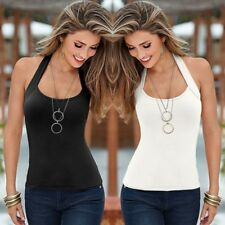 Women Summer Sexy Vest Top Sleeveless Halter Blouse Casual Tank Top Tee T-Shirt