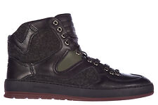 DIOR MEN'S SHOES HIGH TOP LEATHER TRAINERS SNEAKERS NEW B19 BLACK 728