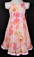 NWT Girl Sizes 4 5 Jenny & Me Pink Pleated Special Occasion Dress Very Cute!