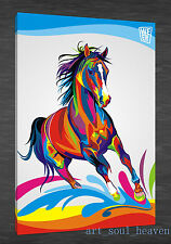 Oil Painting HD Print Wall Decor Art on Canvas,Color Horse 24x36 (Unframed)