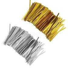 Lot Of 800 Pcs Metallic Twist Ties For Cake Candy Gift Bag Sealing Lollipop Pack