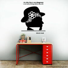 Wise Quote Wall Decal Inspiration Wall Decal  Modern Graphic Oscar Wilde Decal