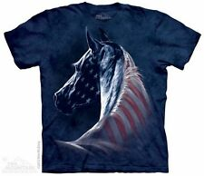 Patriotic Horse T-Shirt from The Mountain - Sizes Adult S - 5X