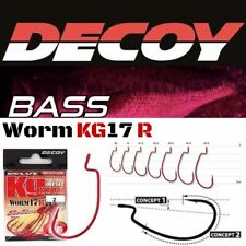 DECOY KG 17R (Red color) SUPERIOR WORM HIGH POWER OFFSET HOOK'S