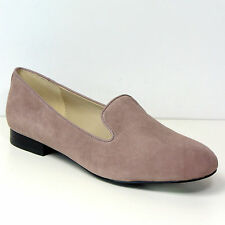 New M&S AUTOGRAPH Real SUEDE LEATHER Albert PUMPS ~ Size 4.5 ~ DUSKY PINK