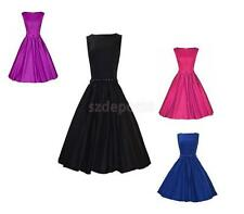 Sexy Women's Solid Sleeveless Summer Casual Evening Party Formal Ball Gown Dress
