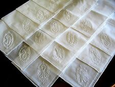 White A,B,C,D,E,F,G,H,J,K,L,M,N,O,P,R,S,T,W Monogram Initial Wedding Lace Hanky