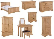 bedroom furniture wardrobes chest of drawers and bed stead's in solid oak