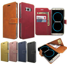 Dual Flip Wallet Leather Case Money Clip Card Cover For iPhone 7 Galaxy S Note