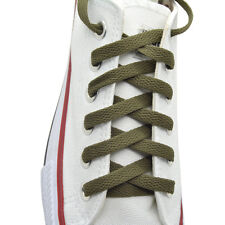 """""""Olive"""" Color Flat 8mm Wide Athletic 45"""",54"""" Shoelaces One Pairs"""