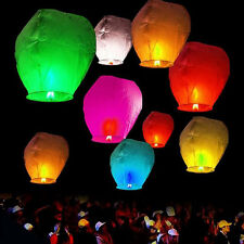 Mix Color Chinese Paper Wishing Lanterns Sky Fire Fly Candle Lamp Wedding Party