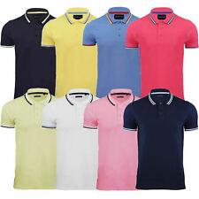 Mens Polo T-Shirt Brave Soul Cotton Short Sleeve Top Tipped New S M L XL XXL