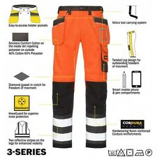 Snickers 3233 High Visibility Work Trousers Snickers Direct Orange